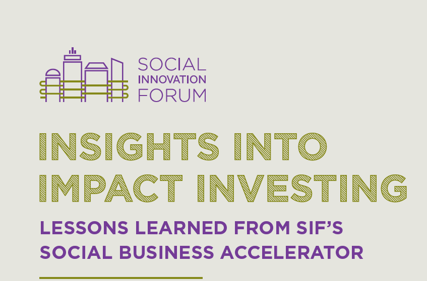 Insights into Impact Investing report cover