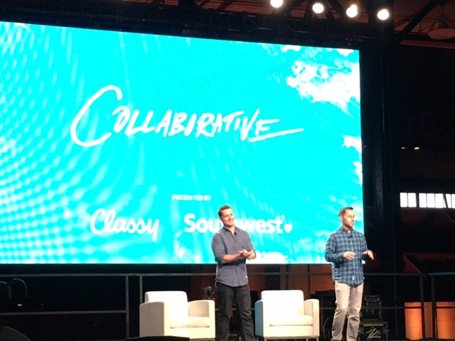 Pat Walsh and Scot Chisholm, Classy Founders, presenting at the Collaborative