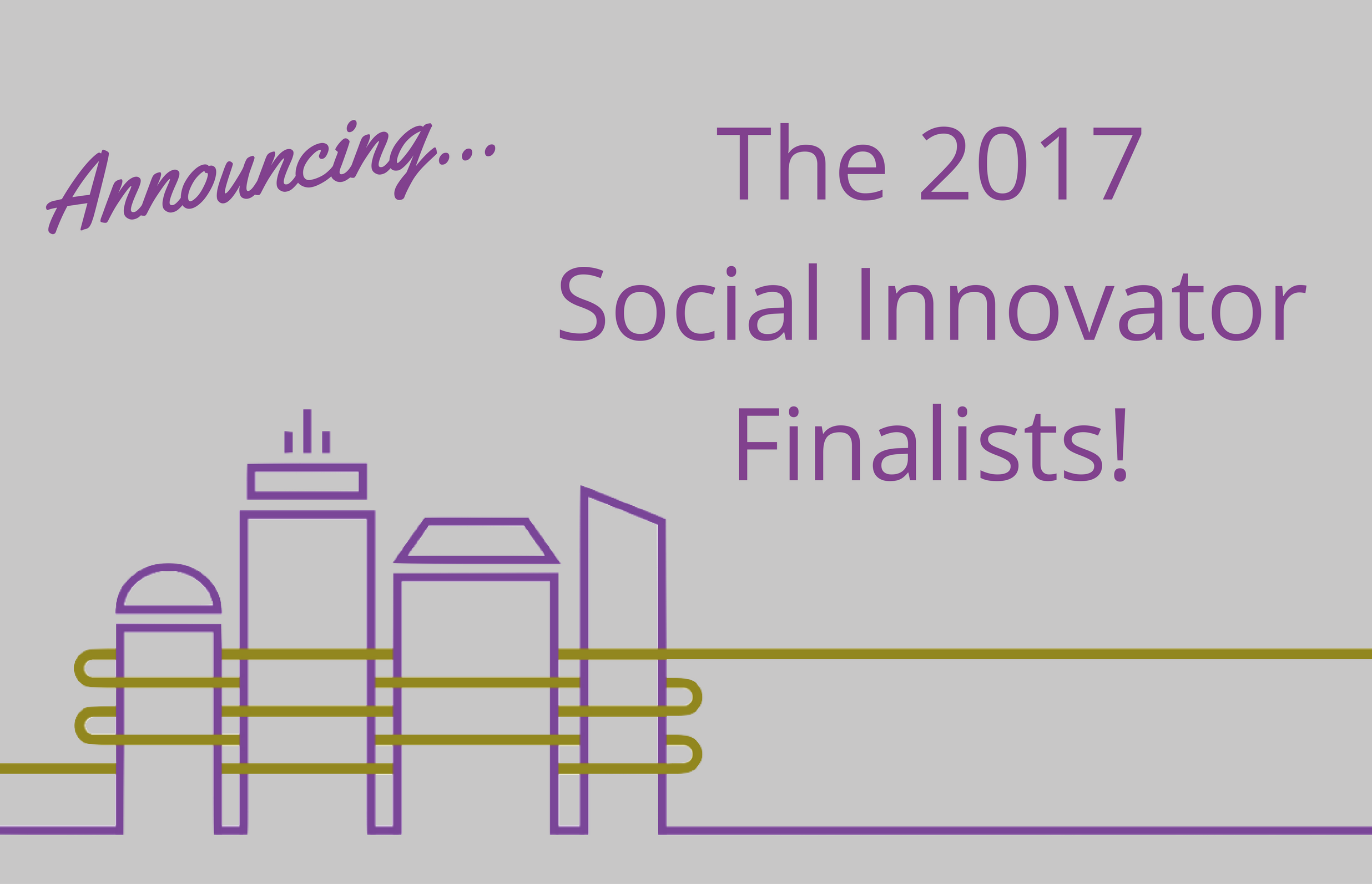 Announcing the 2017 Social Innovator Finalists!