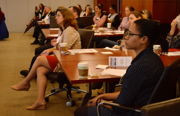 Audience at food insecurity social issue talk