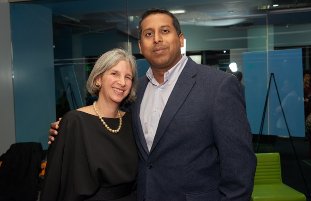 Susan Musinsky and Vilas Dhar at SIF's Winter Reception