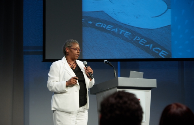 Tina Chery of Louis D. Brown Peace Institute