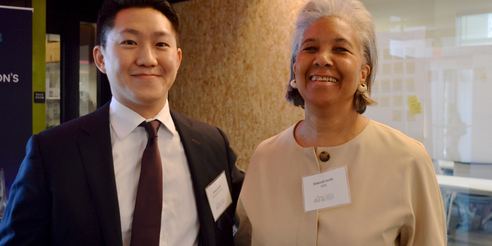 Boot Camp Coach Deborah Smith with Edward Hsieh of MassRecycle