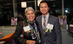 Veronica Serrato of Project Citizenship and Sovanna Pouv of CMAA at SIF's 13th Annual Winter Reception
